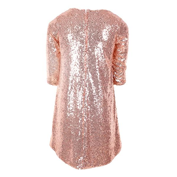 GIRLS DUSTY ROSE SPARKLY PARTY DRESS - ruffntumblekids