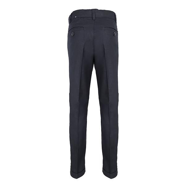 Navy Blue Linen Trouser_Ruffntumble