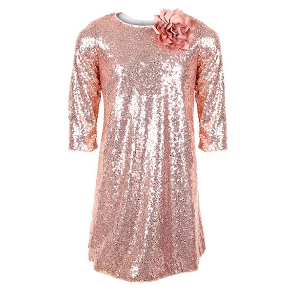 girls dusty rose sparkly party dress_ruffntumblekids