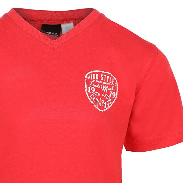 BOYS RED SHORT SLEEVE T-SHIRT - ruffntumblekids