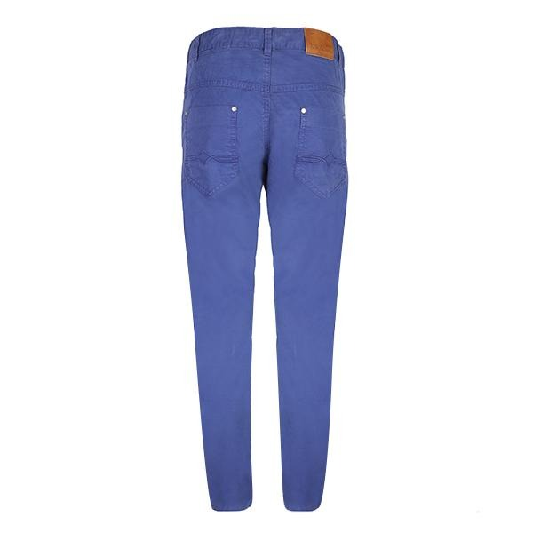 Ink Blue 5 Pockets Twill Trousers_Ruffntumble