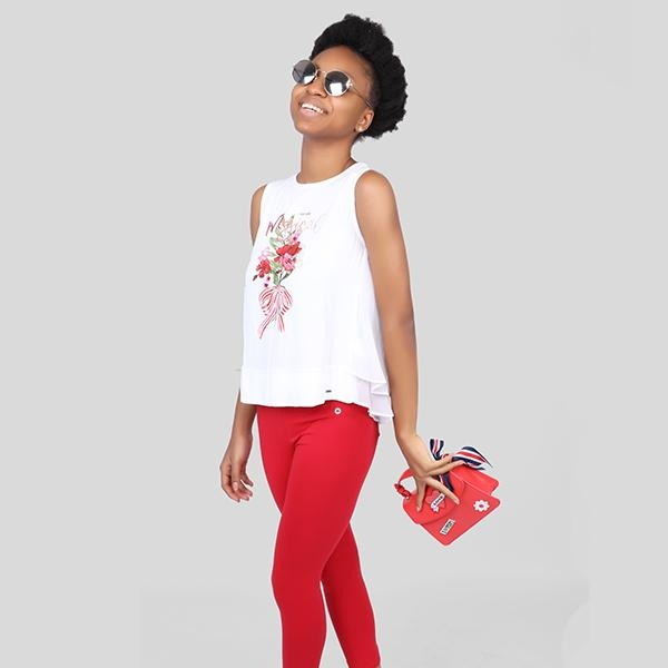 RED LONG BASIC LEGGINGS - ruffntumblekids