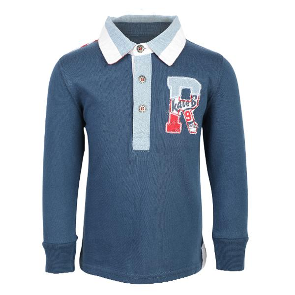 navy blue long sleeve polo-ruffntumble