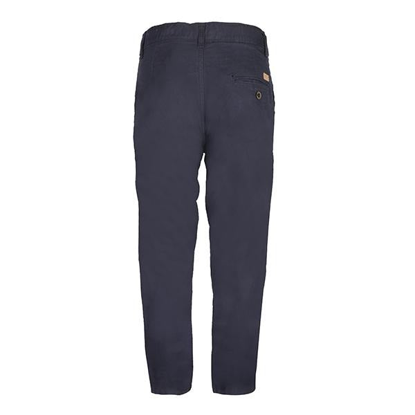 Navy Blue Twill Basic Trousers_Ruffntumble