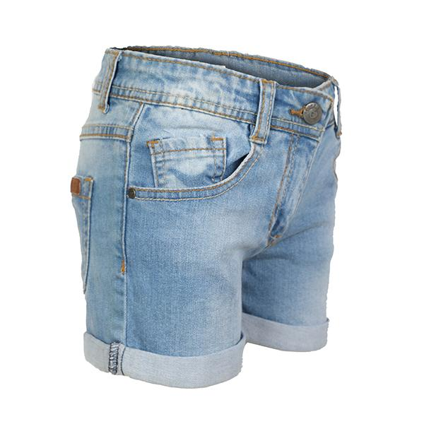 GIRLS LIGHT DENIM SHORTS - ruffntumblekids