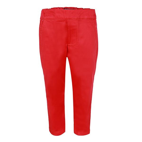BOYS RED PLAIN TROUSER - ruffntumblekids