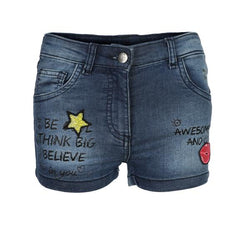 GIRLS DENIM EMBELLISHED SHORT - ruffntumblekids