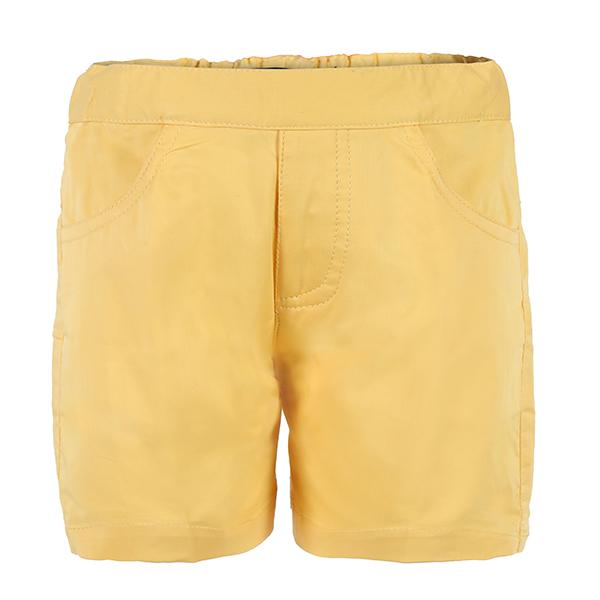 Yellow Plain Chinos Short_Ruffntumble