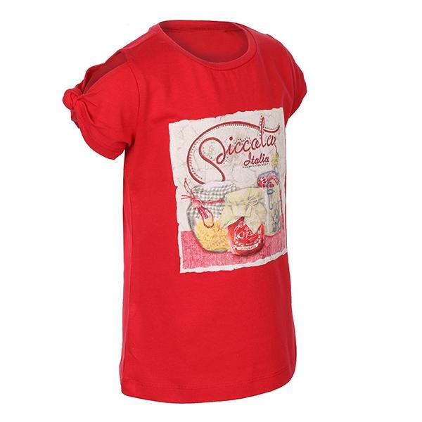 Red Cold Shoulder T-Shirt