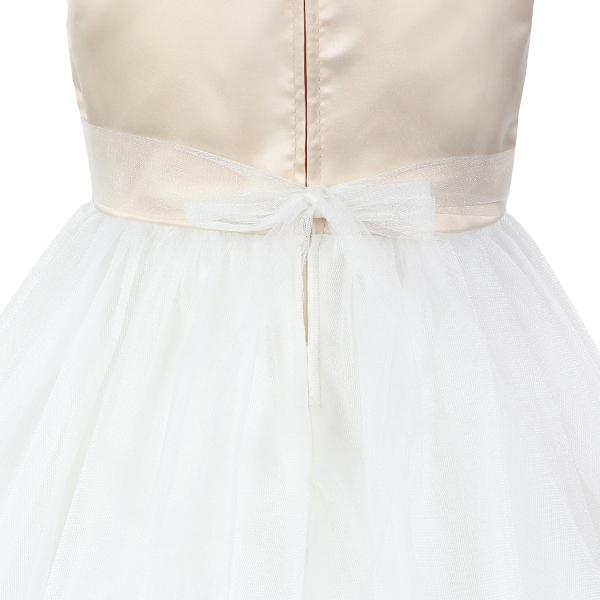 GIRLS WHITE/GOLD FIT AND FLARE DRESS - ruffntumblekids