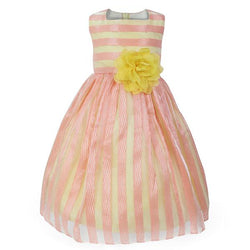 yellow/pink dress-ruffntumble