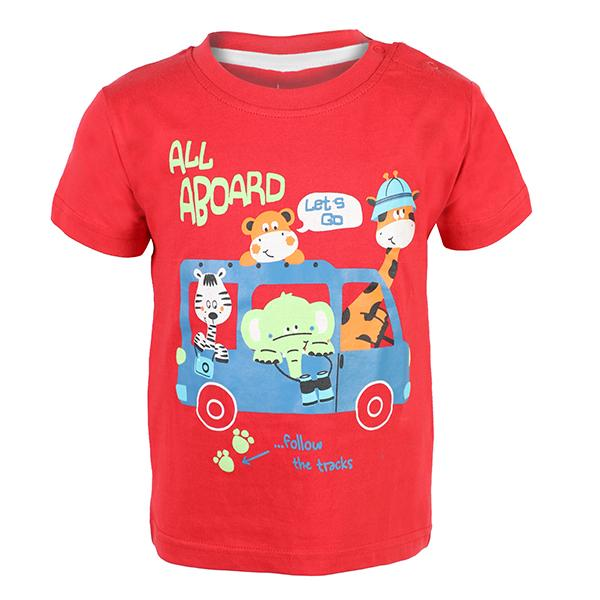 BOYS RED GRAPHIC TSHIRT - ruffntumblekids