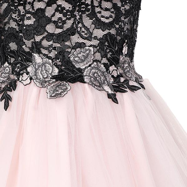 GIRLS PINK LACE BALLERINA DRESS - ruffntumblekids