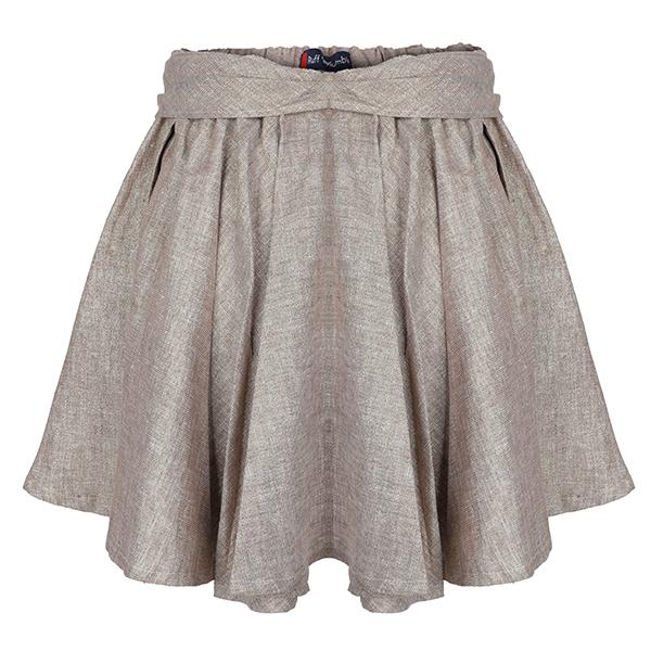 GIRLS GOLD FLARE WITH BOW SKIRT - ruffntumblekids