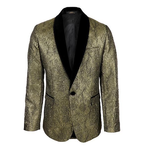 gold damask tuxedo 2 piece suit-ruffntumble