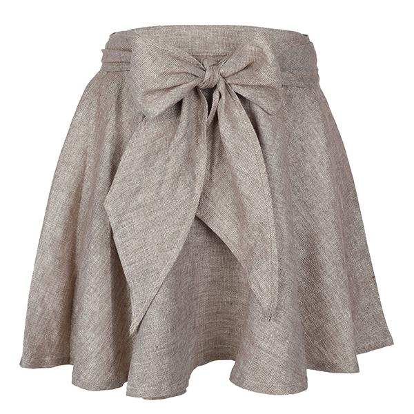 girls gold flare with bow skirt-ruffntumble