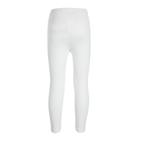 WHITE BASIC SHORT LEGGINGS - ruffntumblekids