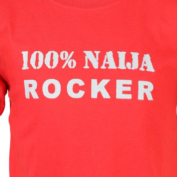 BOYS RED 100% NAIJA ROCK T-SHIRT - ruffntumblekids