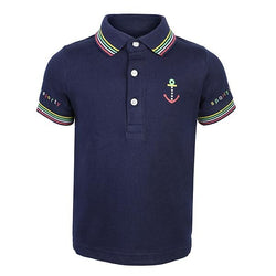 blue short sleeve polo-ruffntumble