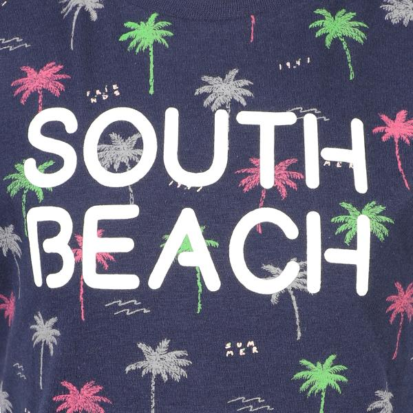 BOYS BLUE SOUTH BEACH T-SHIRT - ruffntumblekids