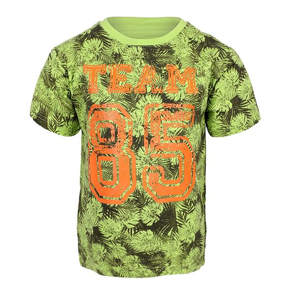 lime green short sleeve T-shirt-ruffntumble