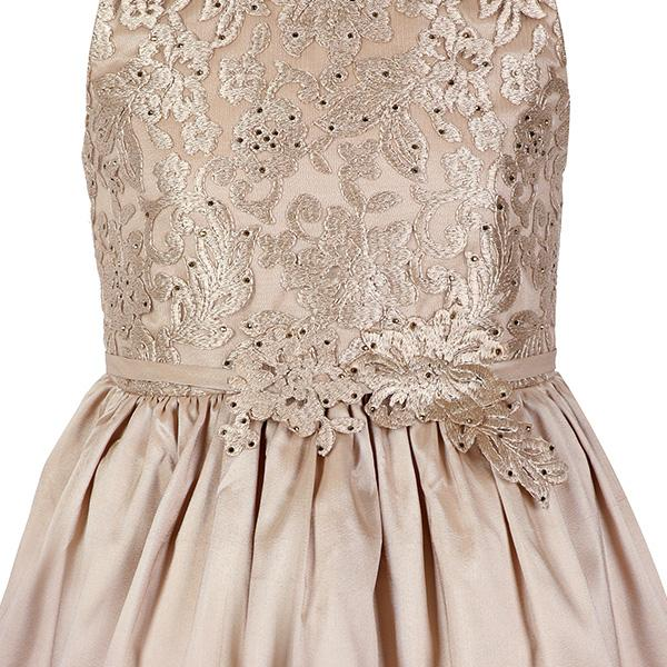 GIRLS GOLD LACE BALL DRESS - ruffntumblekids