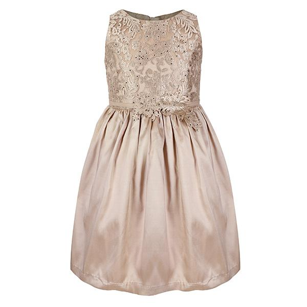 GIRLS GOLD LACE BALL DRESS