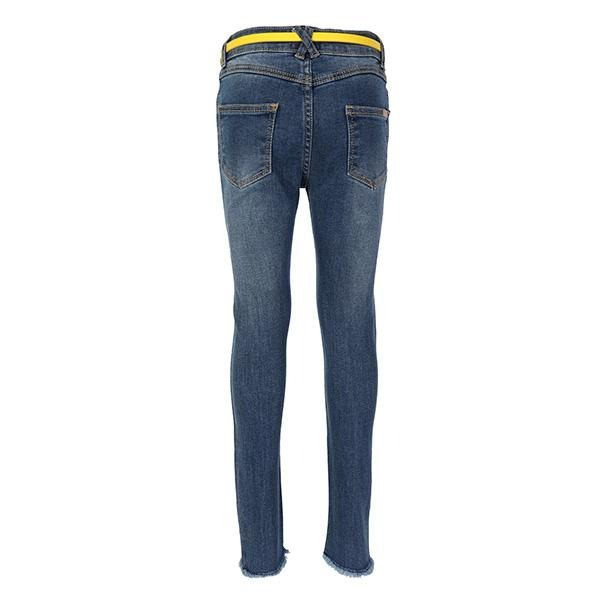 GIRLS BLUE DENIM LONG TROUSER - ruffntumblekids