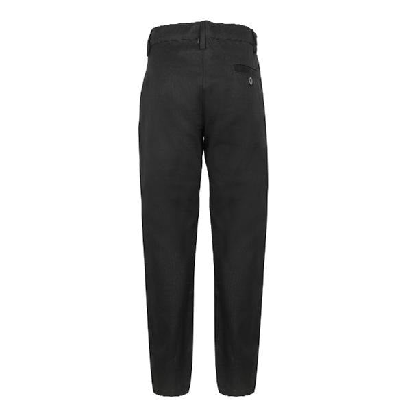 Black Regular Chinos Trouser_Ruffntumble