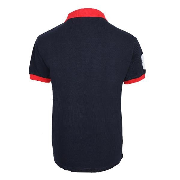 BOYS NAVY BLUE EMBROIDERED POLO - ruffntumblekids