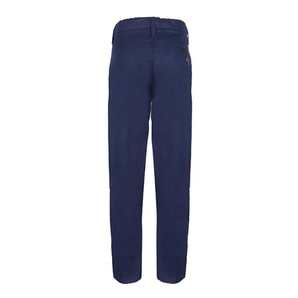Navy Blue Chinos Trousers-Ruffntumble
