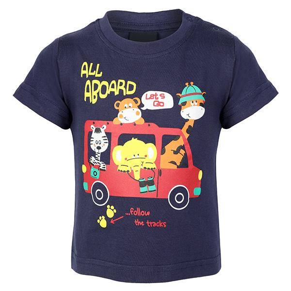BOYS NAVY GRAPHIC T-SHIRT - ruffntumblekids