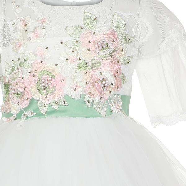GIRLS WHITE TULLE BALL DRESS - ruffntumblekids