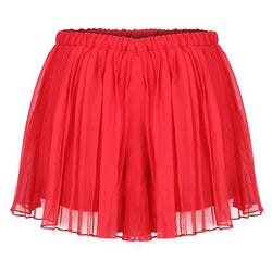 Girls Watermelon Pleated Bermuda Skirt_ruffntumble