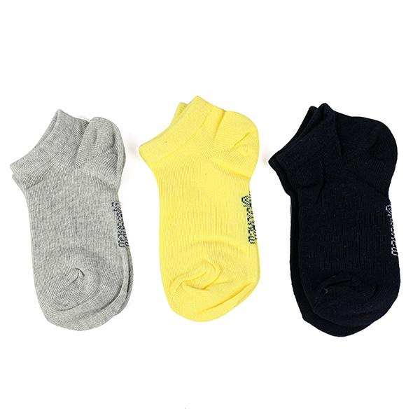 YELLOW 3PC SHORT SOCKS SET - ruffntumblekids