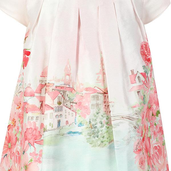 GIRLS APRICOT LANDSCAPE DRESS - ruffntumblekids