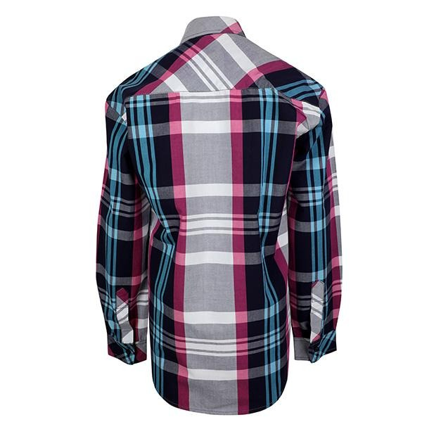 BOYS MULTI COLOR CHECK LONG SLEEVES SHIRT - ruffntumblekids