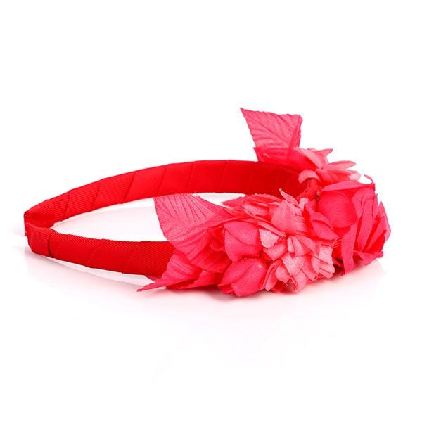GIRLS RED FLOWER HEADBAND - ruffntumblekids