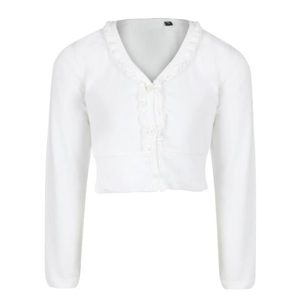 White Knitted Bolero_Ruffntumble