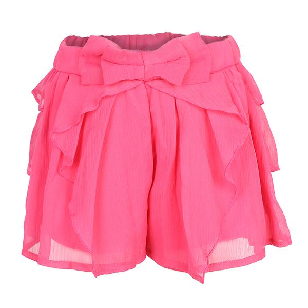GIRLS FUCHSIA BERMUDA SHORTS WITH BOW - ruffntumblekids