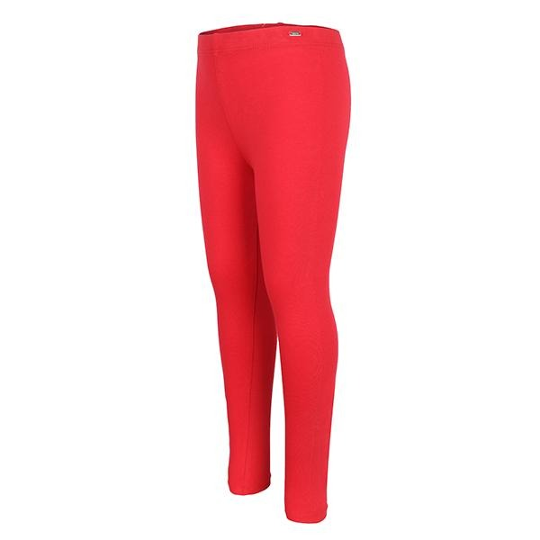 GIRLS RED LONG BASIC LEGGINGS - ruffntumblekids
