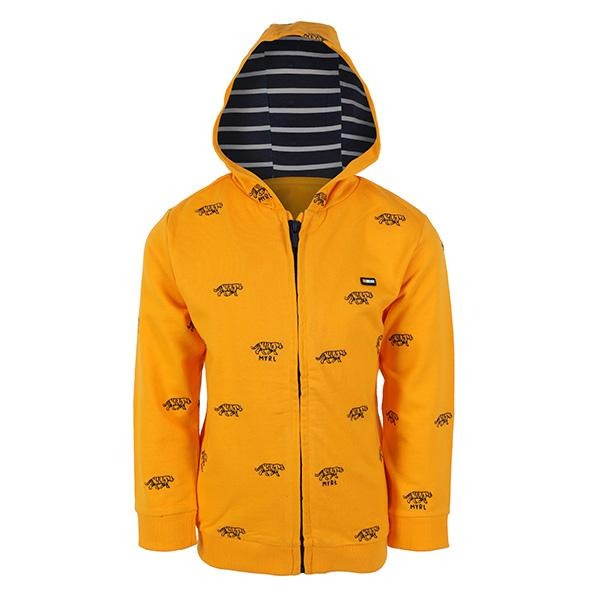 BOYS YELLOW LONG SLEEVES EMBROIDERED HOODIE - ruffntumblekids