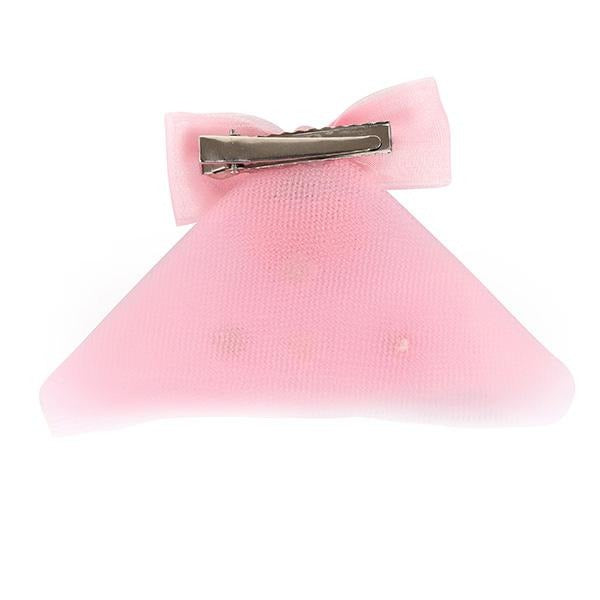 GIRLS PINK DECORATIVE HAIR BOW - ruffntumblekids