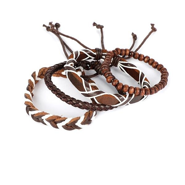 BOYS BROWN BOY'S BRACELET SET - ruffntumblekids