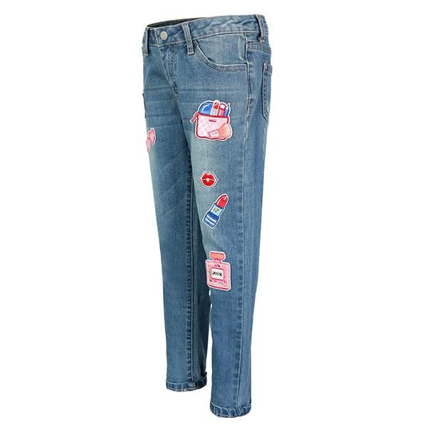 GIRLS DENIM PEDAL PUSHER - ruffntumblekids