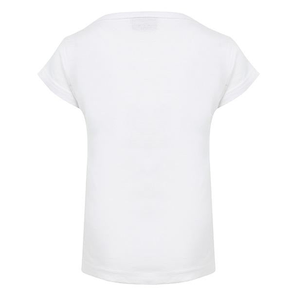 GIRLS WHITE SHORT SLEEVE GRAPHIC T-SHIRT - ruffntumblekids
