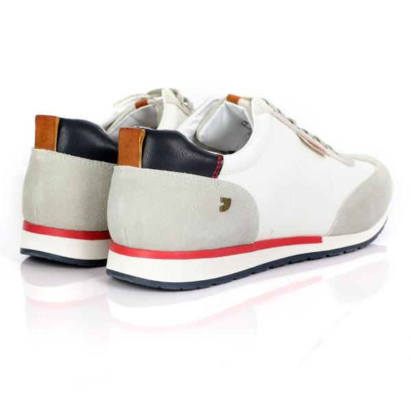 BOYS WHITE CASUAL LOW TOP SNEAKERS - ruffntumblekids