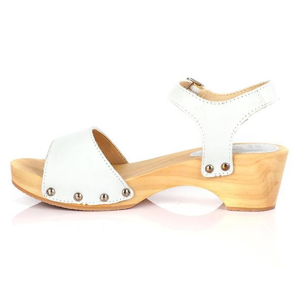 GIRLS WHITE CASUAL BUCKLE SANDALS - ruffntumblekids