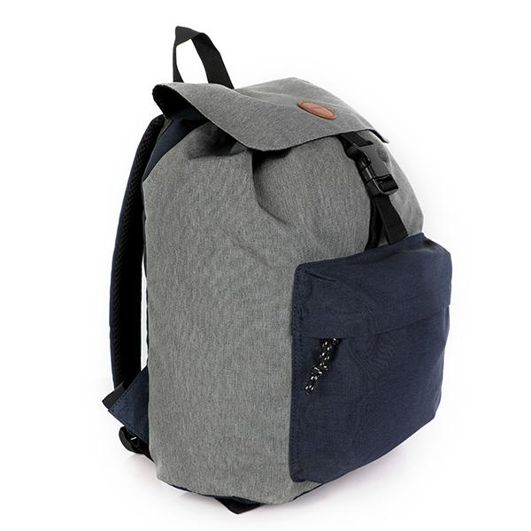 BOYS GREY COTTON BACKPACK - ruffntumblekids