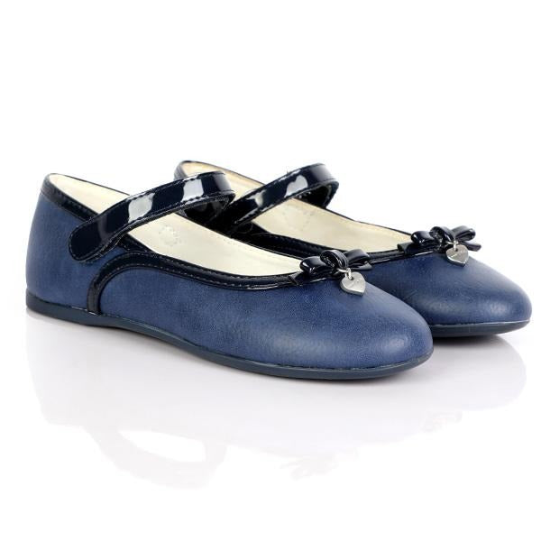 GIRLS NAVY BASIC MARY JANE SHOES - ruffntumblekids